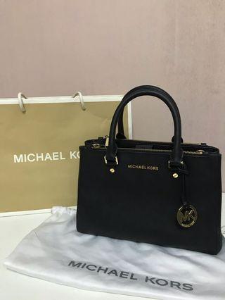 Michael Kors Saffiano Savannah Leather Satchel