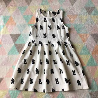 NEXT White Cat Dog Dress