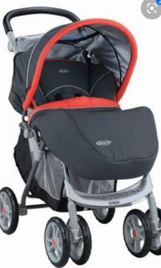 Graco豪華嬰兒推車 附贈遮雨罩