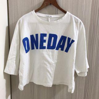 藍色字母休閒真理褲兩件式套裝