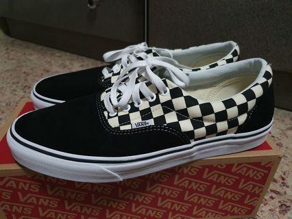 Vans Era checkerboard black white