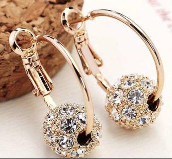 Rene Crystal Ball Earrings