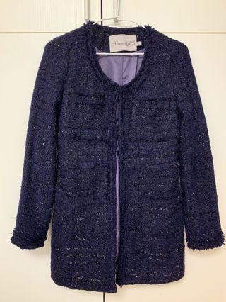 紫色小香風外套