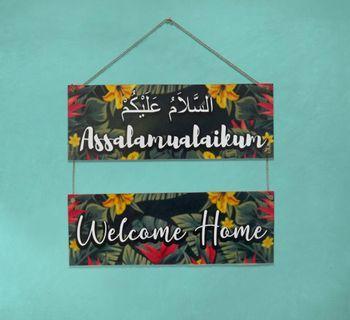 Pajangan dinding welcome home