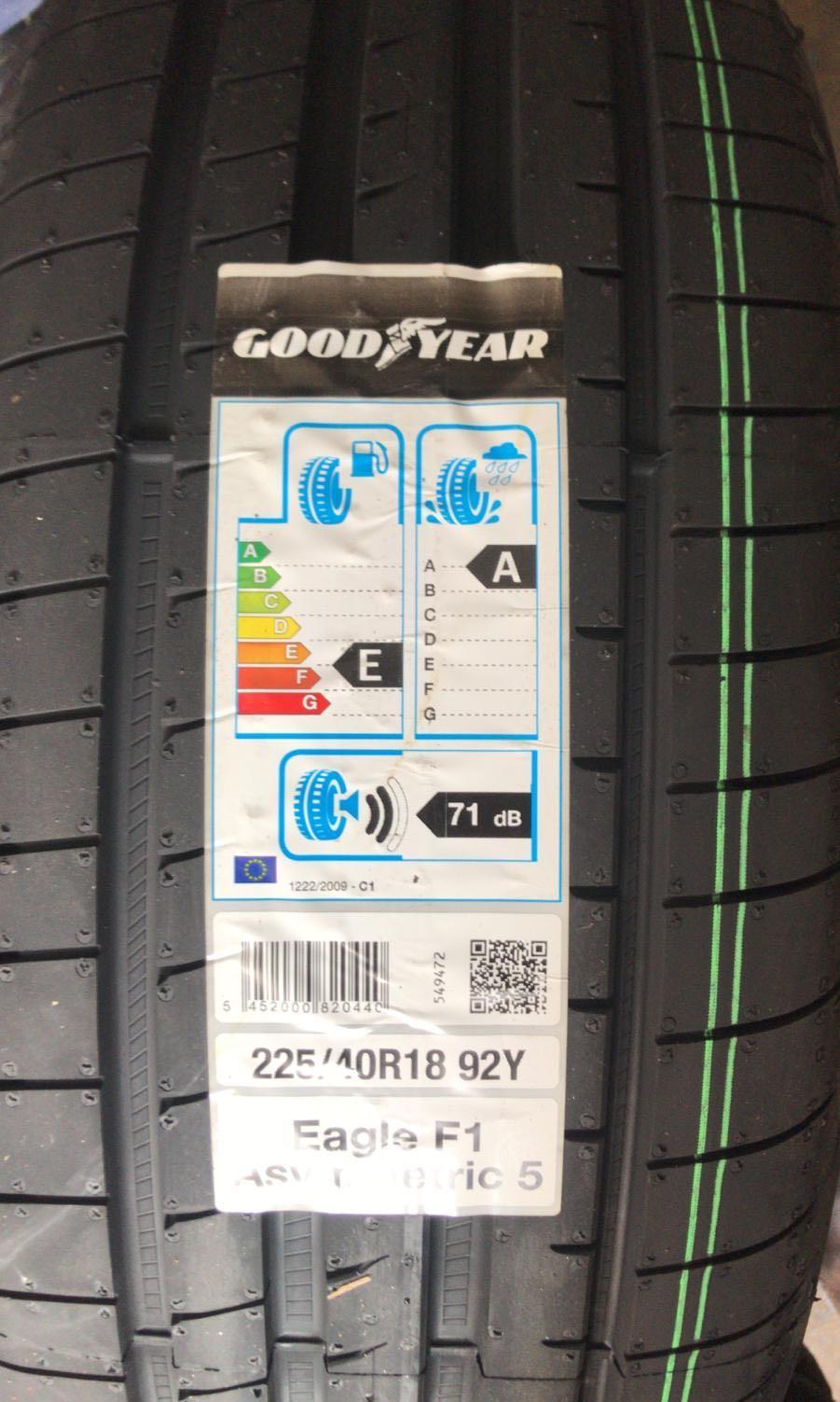 225/40R18 Goodyear F1 Asymmetric 5