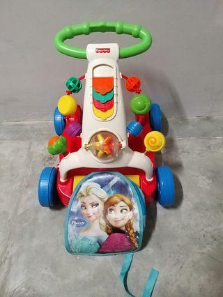 Fisher Price - Walker to Wagon With Frozen Bag