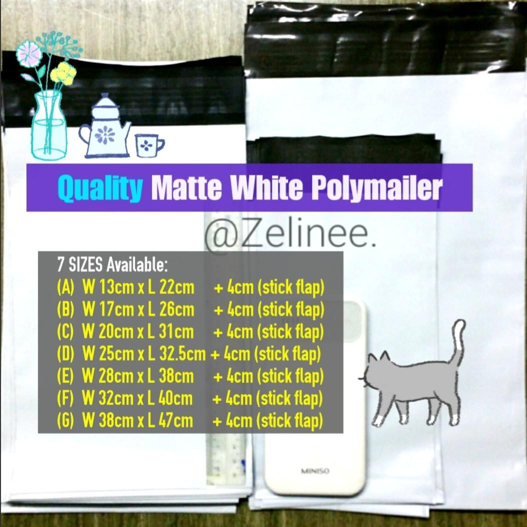 360° Protection! ❤Matte W. Polymailers [AVAILABLE]
