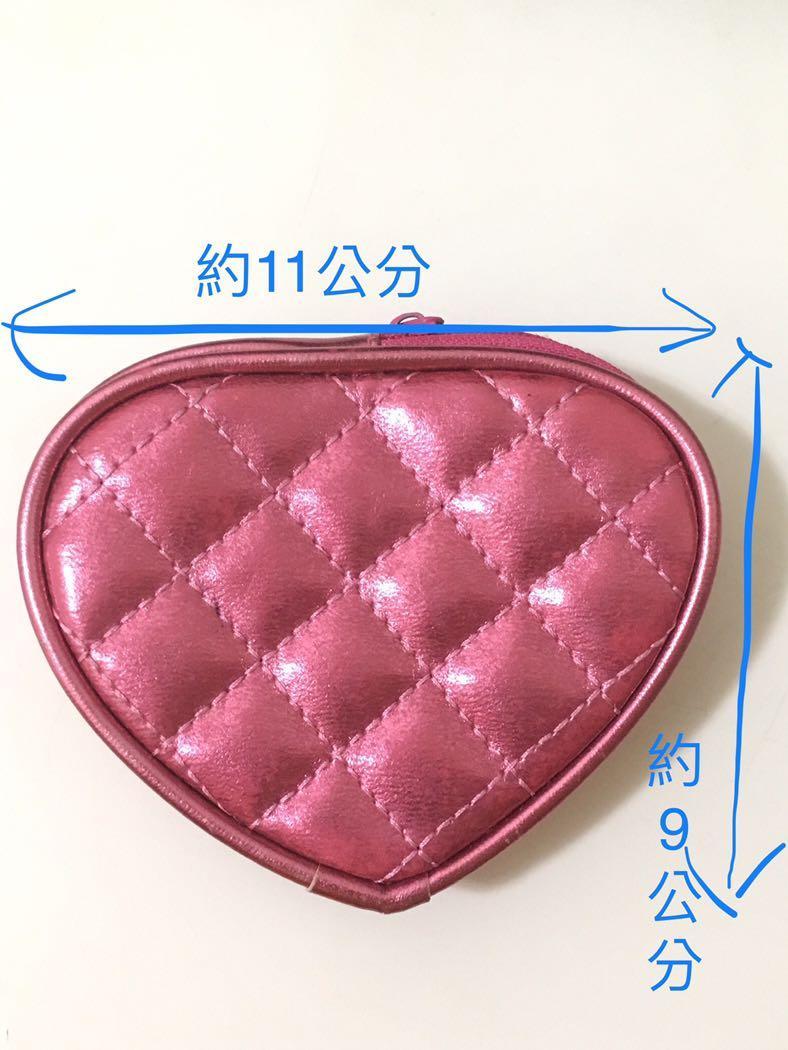 桃紅愛心零錢包