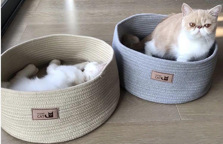 全新現貨寵物棉麻貓窩