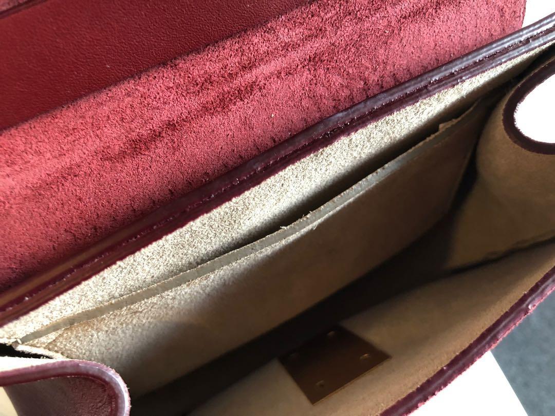 Chloe drew mini bag wine red suede handbag authentic
