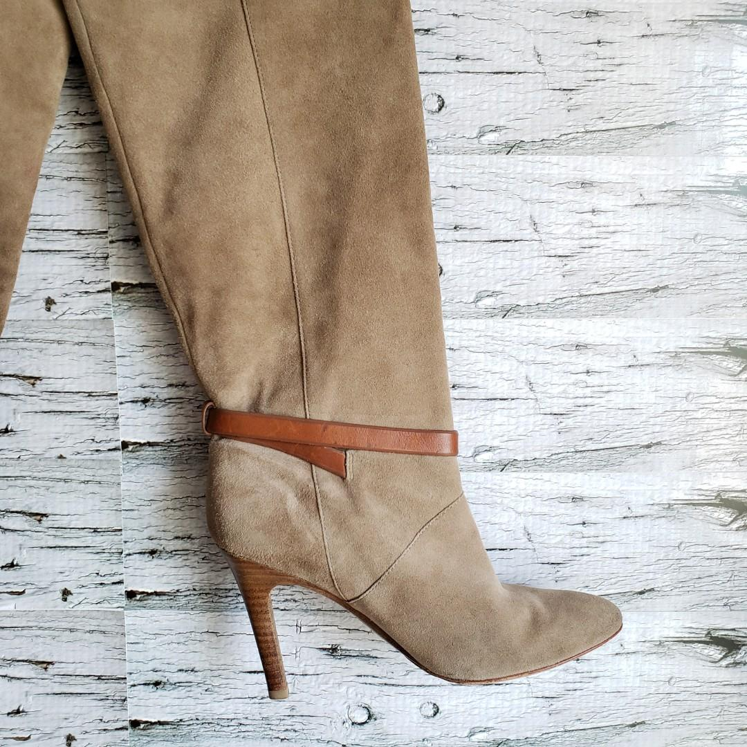 Coach | Ash Kid Suede High-Heel Tall Boots Size 9B