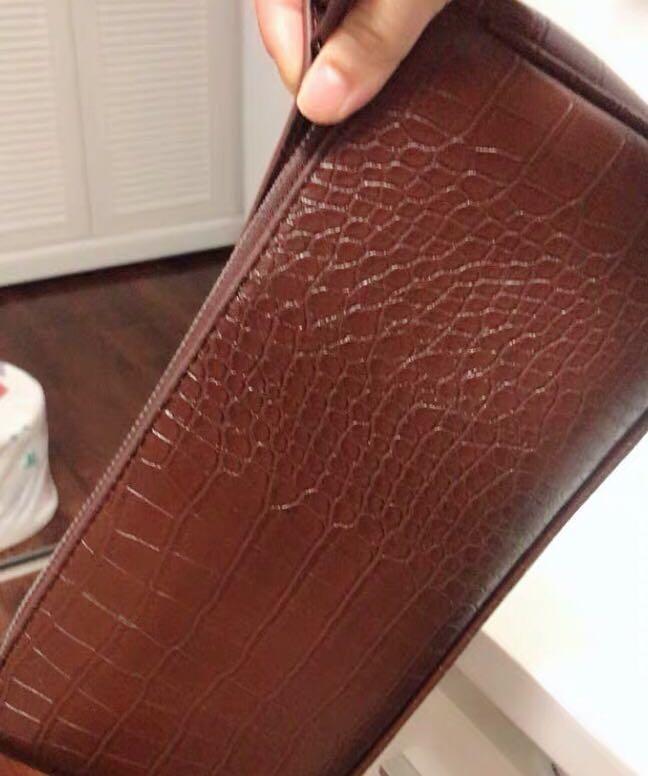 Croc vintage shoulder bag (brown)