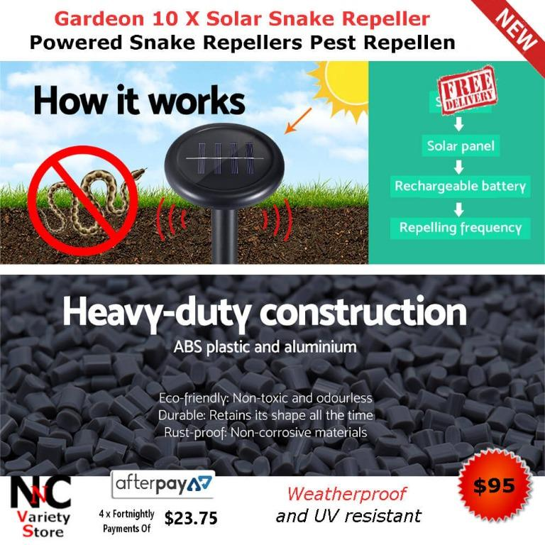 Gardeon 10 X Solar Snake Repeller Powered Snake Repellers Pest Repellen