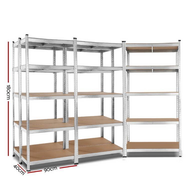 Giantz 5×0.9M Warehouse Shelving Racking Storage Garage Steel Metal Shelves Rack