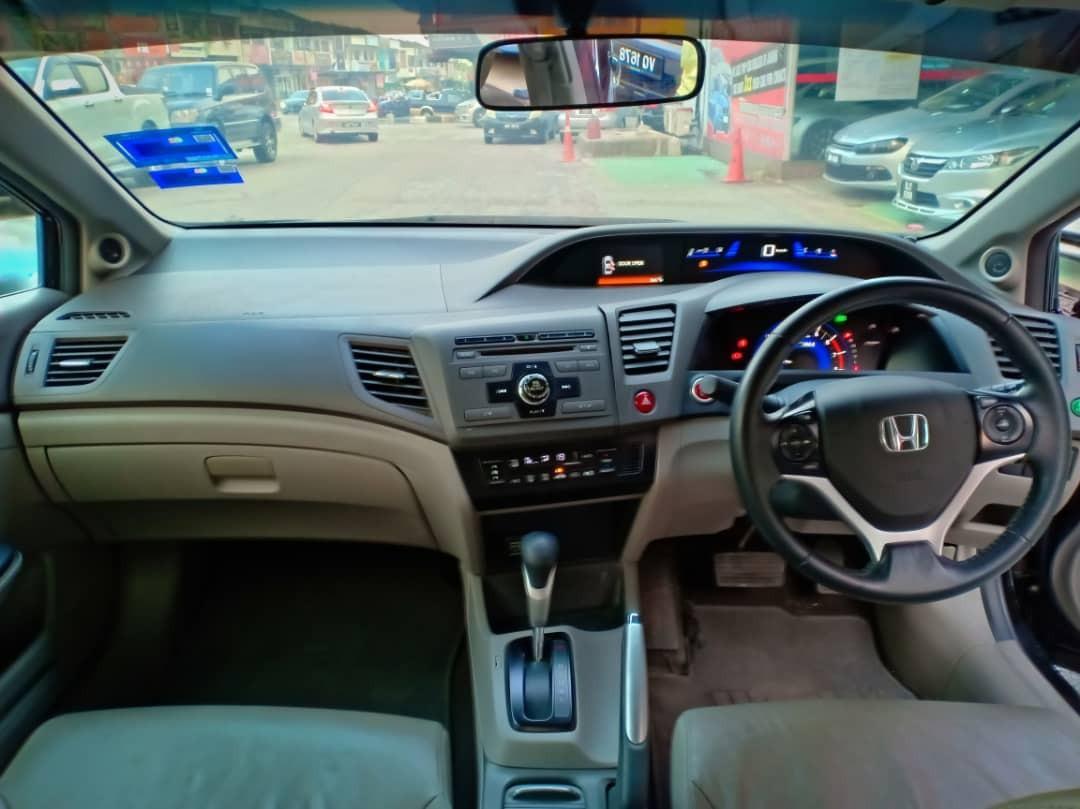 HONDA CIVIC 1.5AT(HYBRID) IMA Engine/PushStart/Leather🚘2012TH HighLoan/Cash💰OfferPrice💲Rm44,300 Only‼ LowestPrice InJB 🎉📲 Keong‼🤗