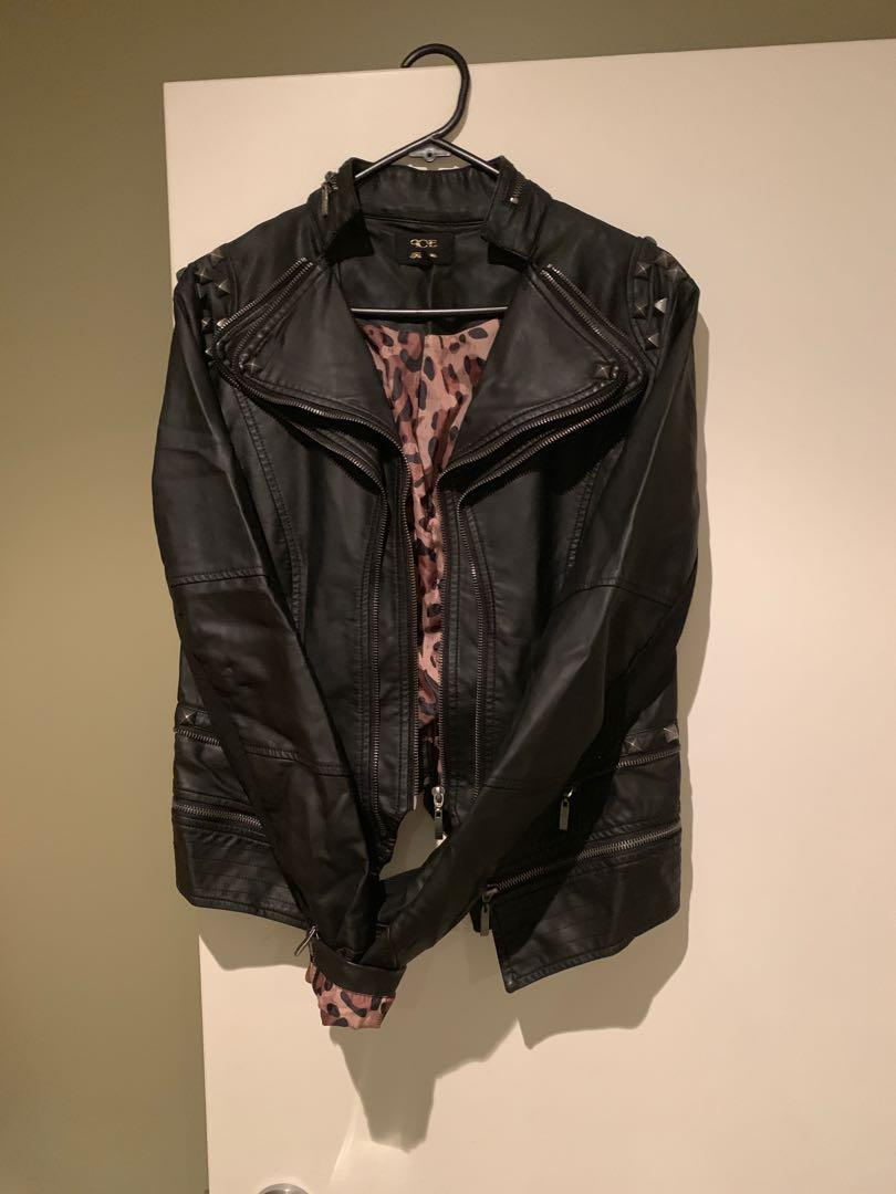 Ice faux leather jacket size L