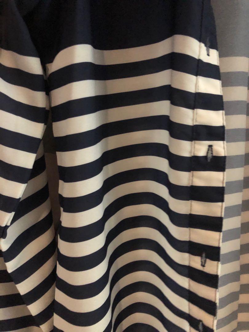 kemeja the executive navy stripes
