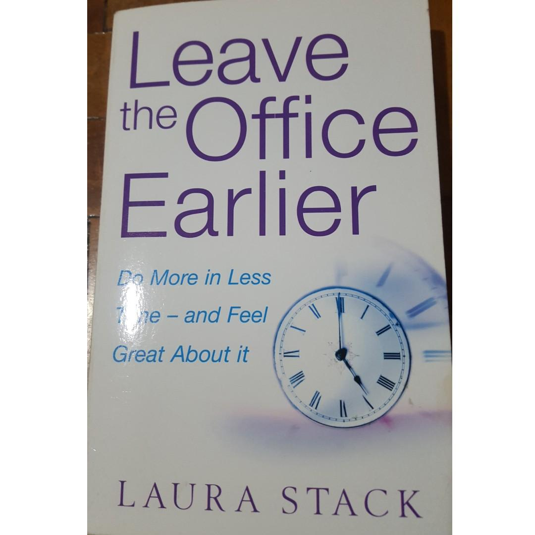 Leave The Office Earlier Boon Self Help Productivity Time Management Business textbook