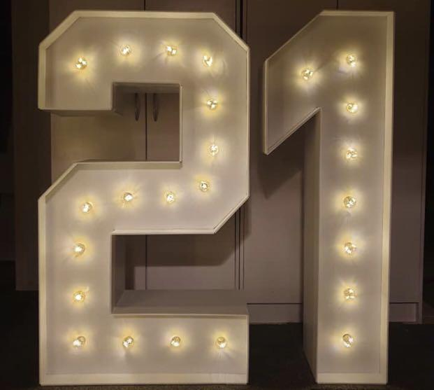 Light up Number HIRE ONLY