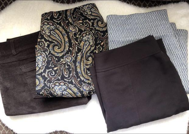 Lot of 4 skirts includes 2 brand new - all for $25, size Large
