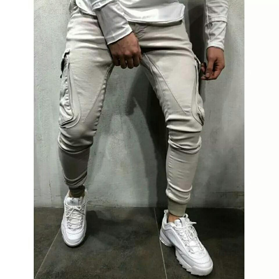 Men Sport Long Pencil Pant Bottoms Joggers Trousers