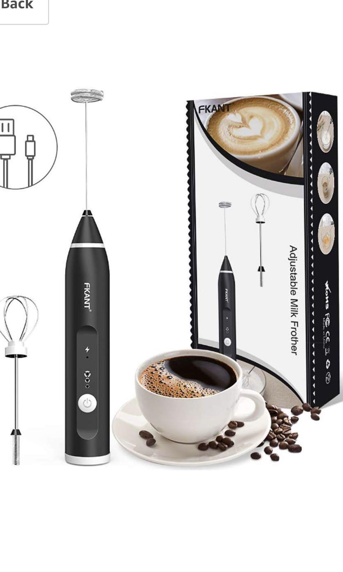 Coffee, Tea & Espresso Makers Milk Frother Cappuccino Drinks Coffee Cream Electric Whisk Latte Maker Kitchen
