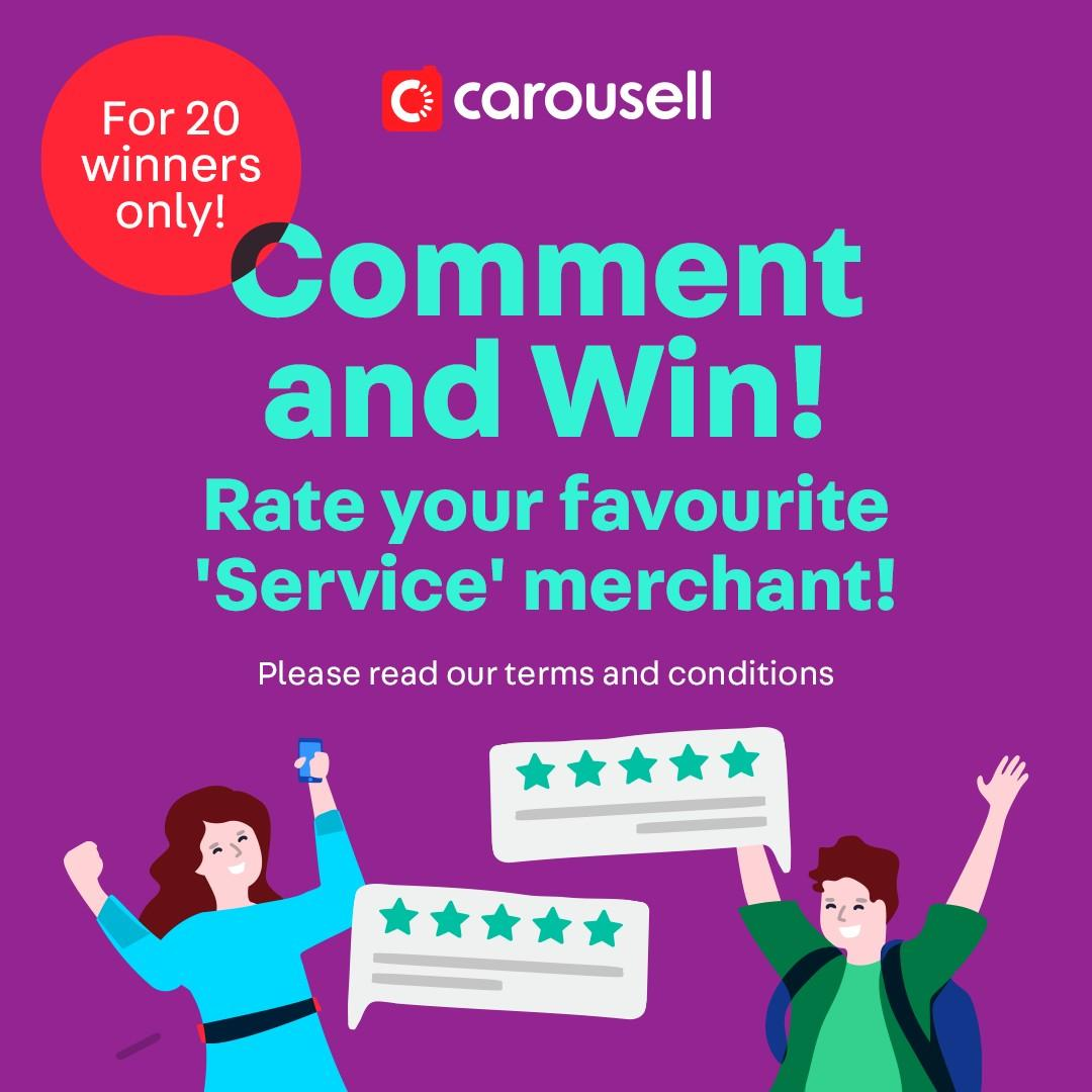 Rate your Favourite 'Service' Merchant & WIN $20 Fairprice Vouchers!