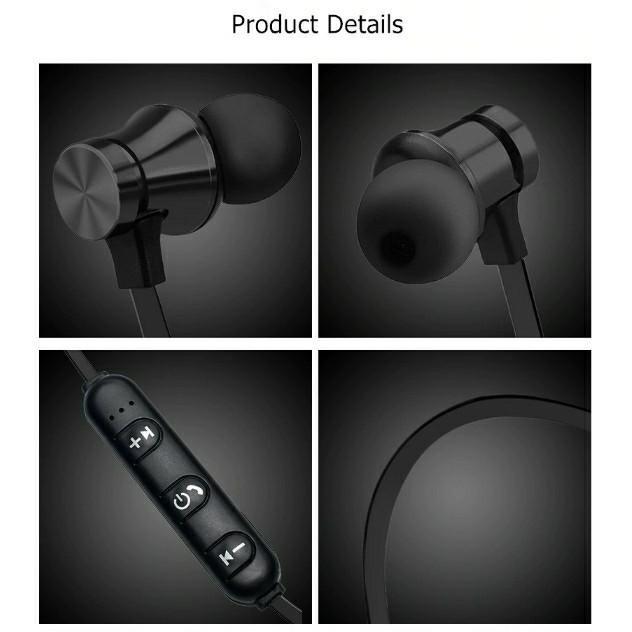 Sport MP3 Wireless Bluetooth Magnetic Earphone Headset Handsfree Sukan