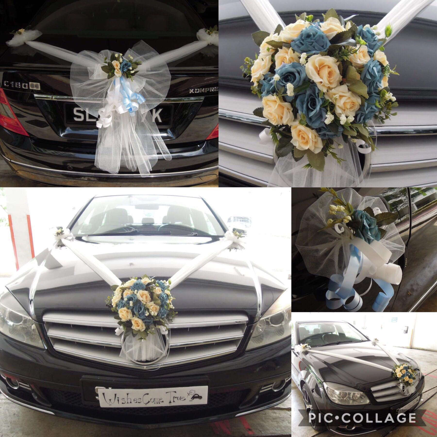Wedding Car Decoration / Wedding Car Deco / Wedding Car Decor / Bridal Car Decoration / Bridal Car Deco / Bridal Car Decor
