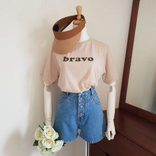 bravo字母T-shirt