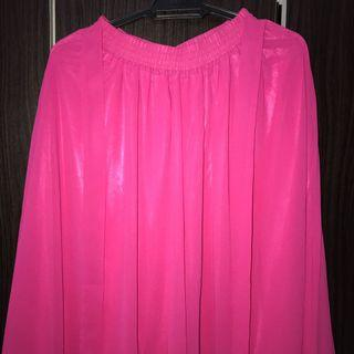High Waist Pleated Palazzo in Pink