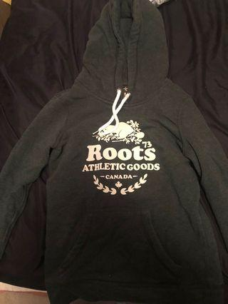 Roots Forest Green Hoodie XS
