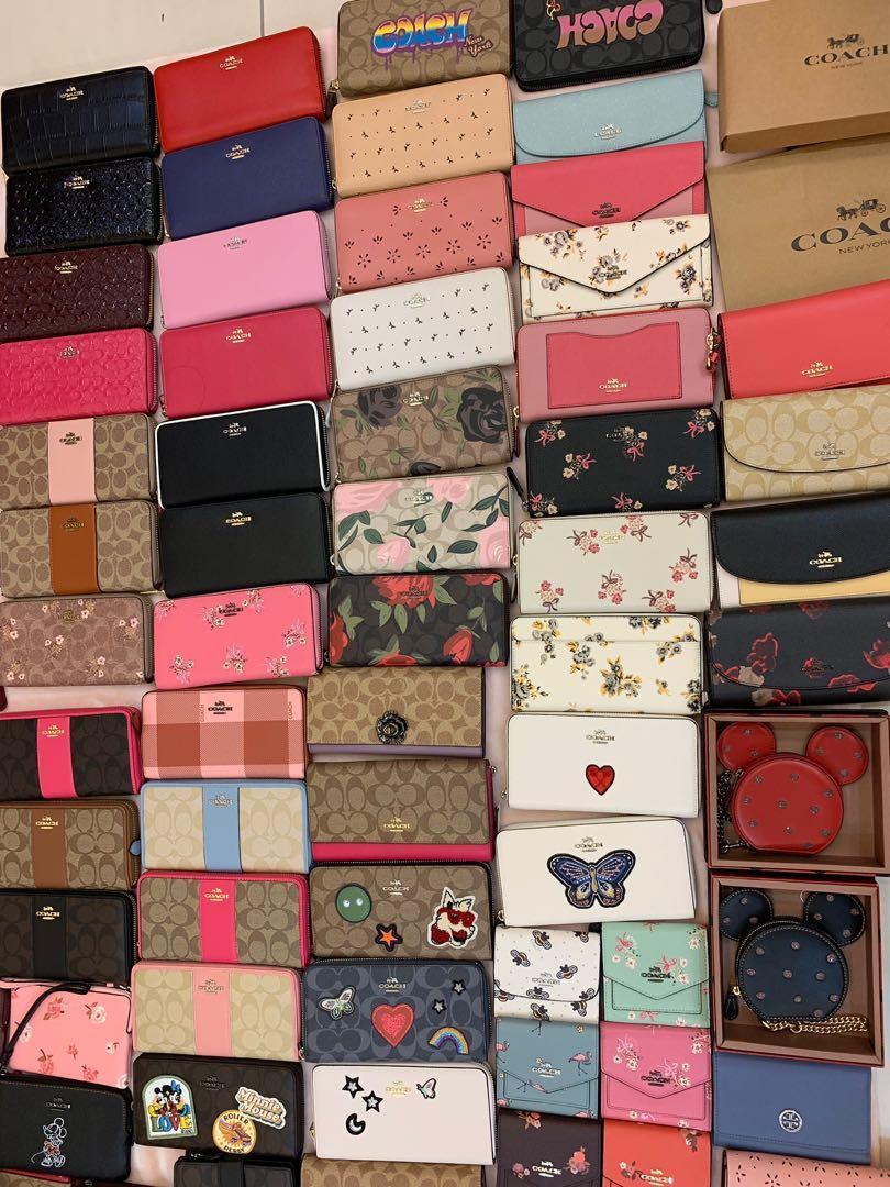 (050919)Ready Stock Authentic coach women wallet purse Tory Burch wristlet Kate Spade ♠️ handbag
