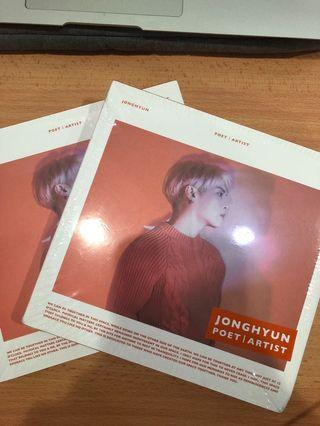 SHINEE Jonghyun POET ALBUM