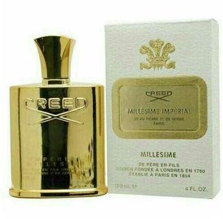 Creed Imperial Gold 4.2 Fl. Oz. Eau De Parfum Millesime Spray Men.