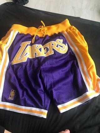 Just don Lakers 紫色籃球褲 L 美國購入