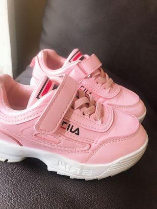 Sepatu Fila Pink Kids