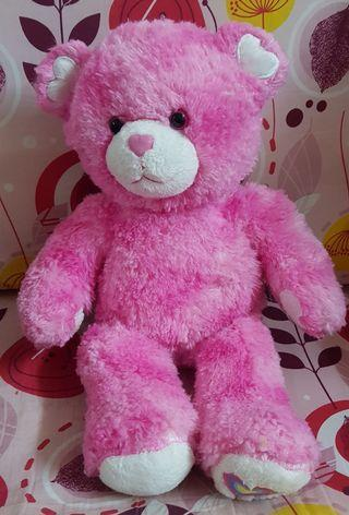 Pink heart bear