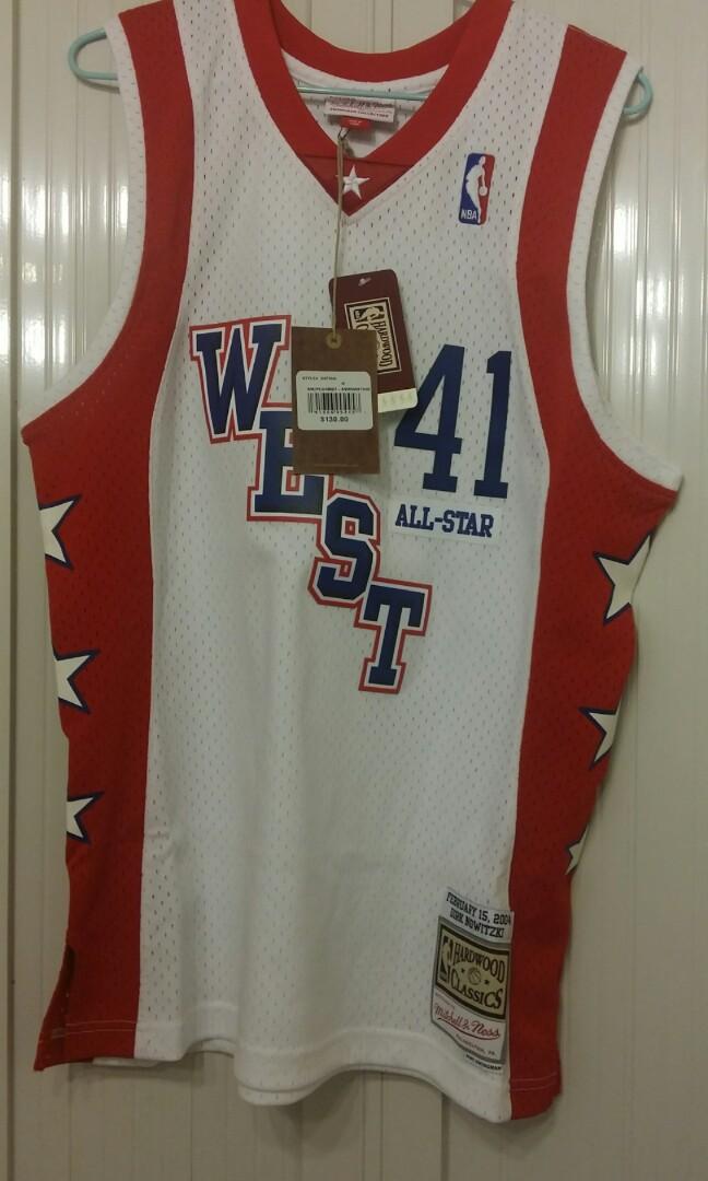 buy online 078ba 2b5a1 100% New with tag Mitchell & Ness Swingman (熱印) All Star 2004 Dirk Nowitzki  Size M