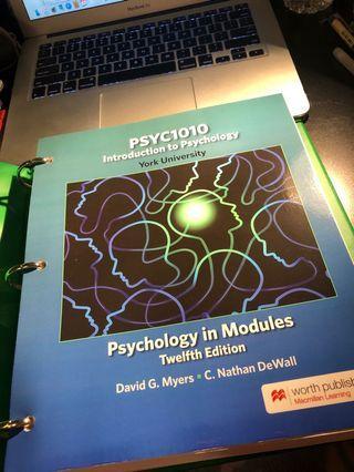 York University PSYC 1010 Textbook