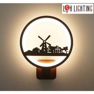 LSH Lighting Stylish Fashionable LED Wall Light 19342/18W