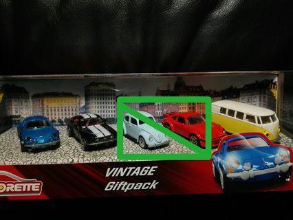 套組拆賣三台合售)MAJORETTE 美捷輪Vintage Cars 福斯 T1  野馬 復古系列