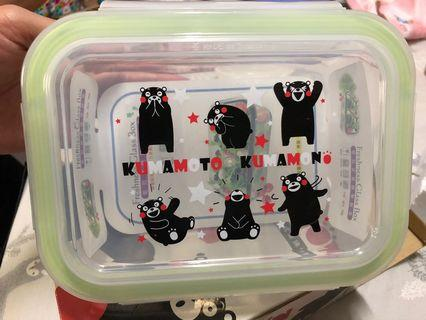 KUMAMON密扣式玻璃保鮮盒