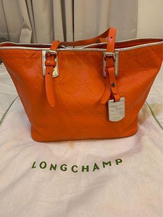 全真皮Longchamp購物包 肩背包 手提包