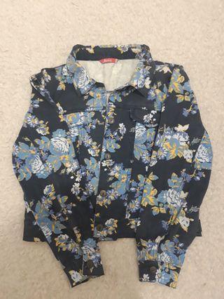 Jaket Jeans Floral