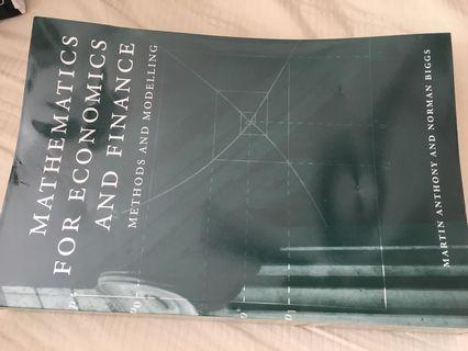 Mathematics for economics and finance: methods and modeling