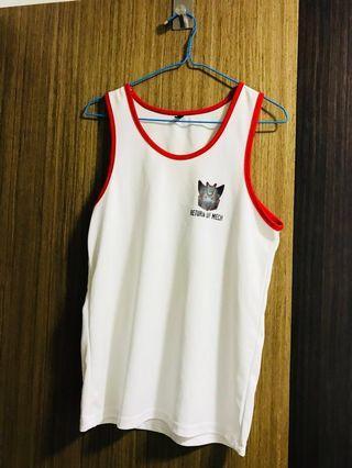 NUS Camp Singlet Red and White Singlet NUS Sports Wear