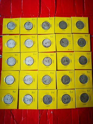 Kwangtung 1920 20 cents silver, 9th year Good EF to AU with lusters total 25 pcs selling at $25  each