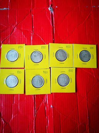 Kwangtung 1920 20 cents (9th year), nice AU grade selling at $30 each only 7 pcs