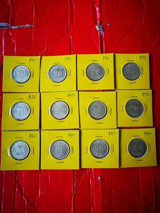 20 cents china kwangtung  1920, 9th year. All unc  selling at $40 each only 12 pcs